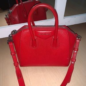Givenchy Mini Antigona bag in grained red leather